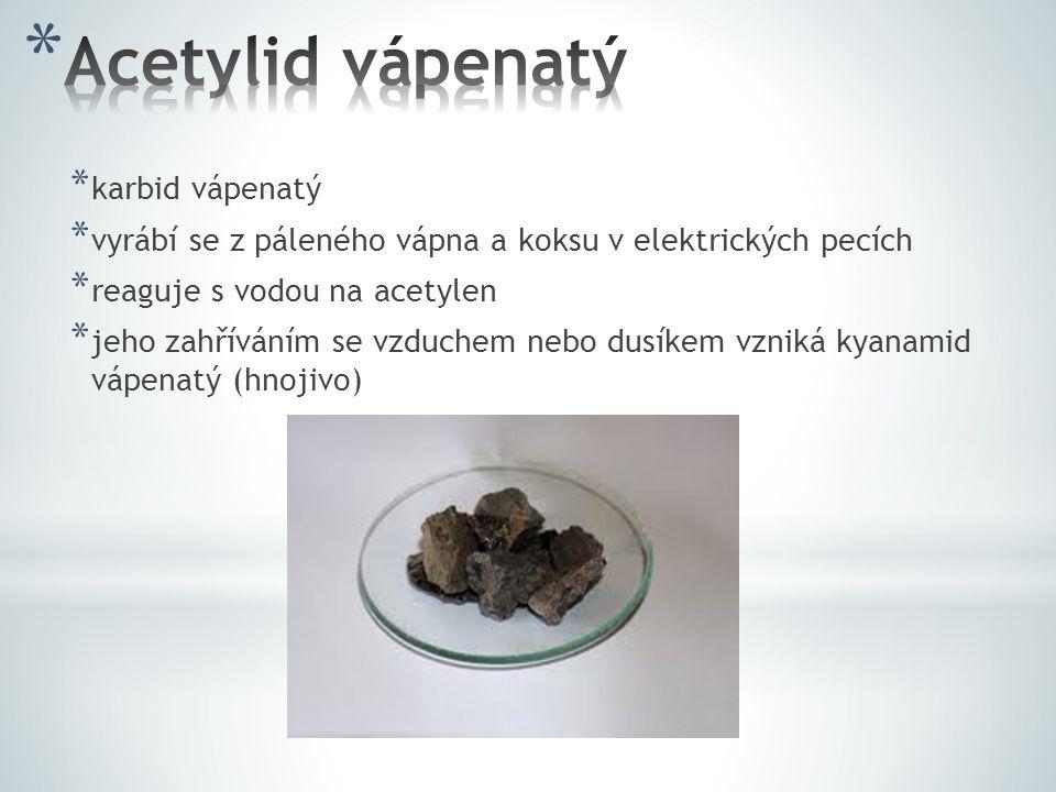 Acetylid vápenatý karbid vápenatý