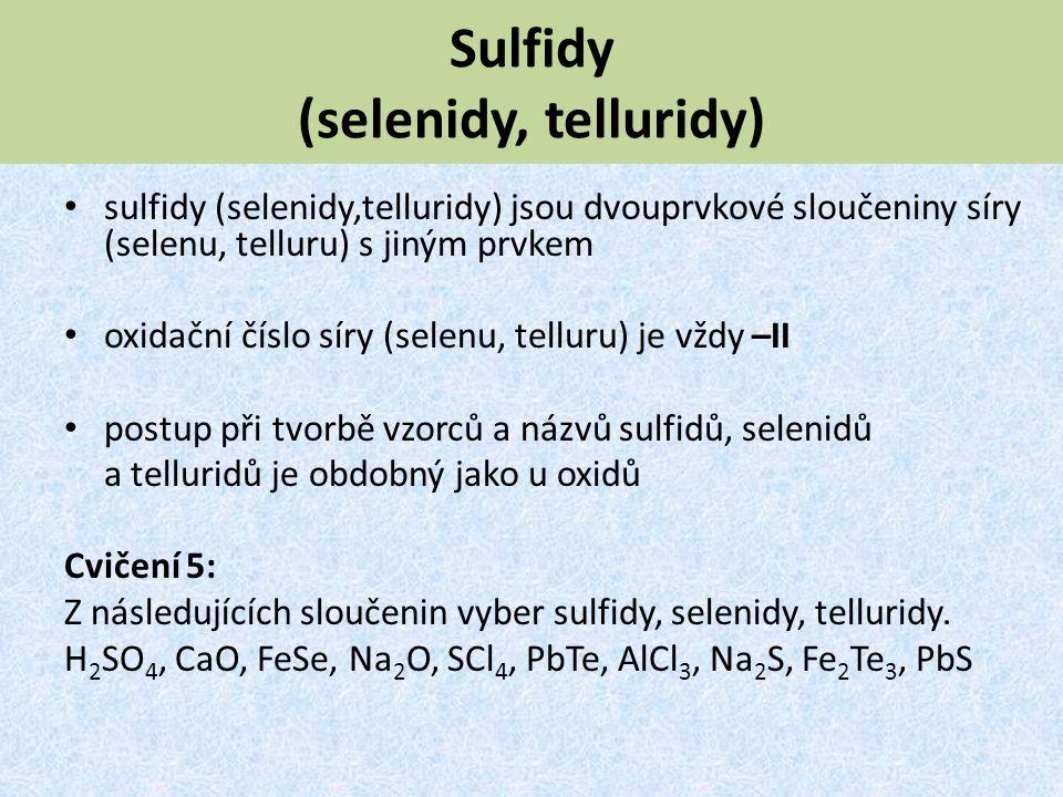 Sulfidy (selenidy, telluridy)
