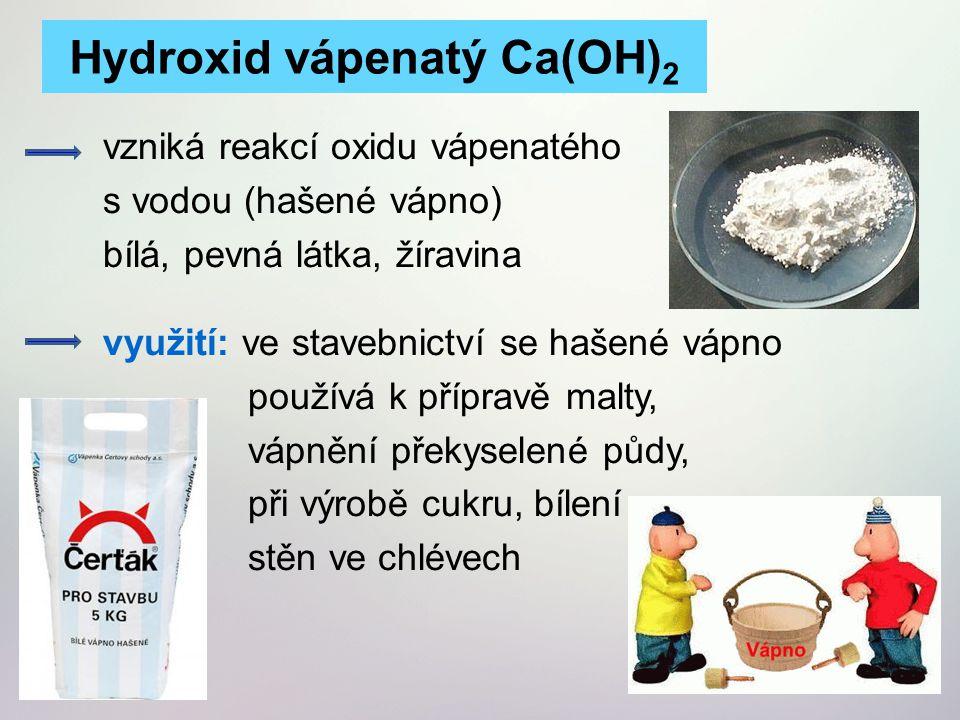 Hydroxid vápenatý Ca(OH)2