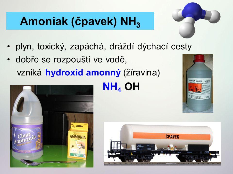 Amoniak (čpavek) NH3 NH4 OH