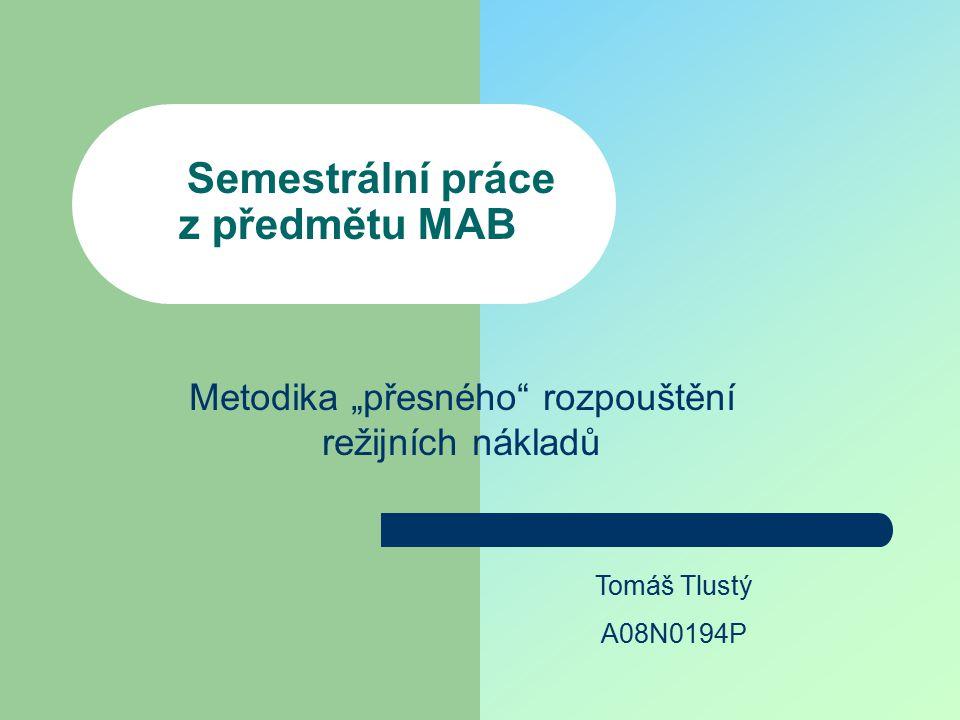 Semestrální práce z předmětu MAB