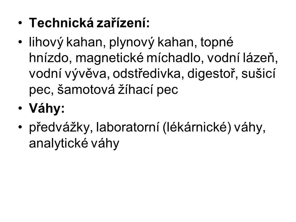 Technická zařízení:
