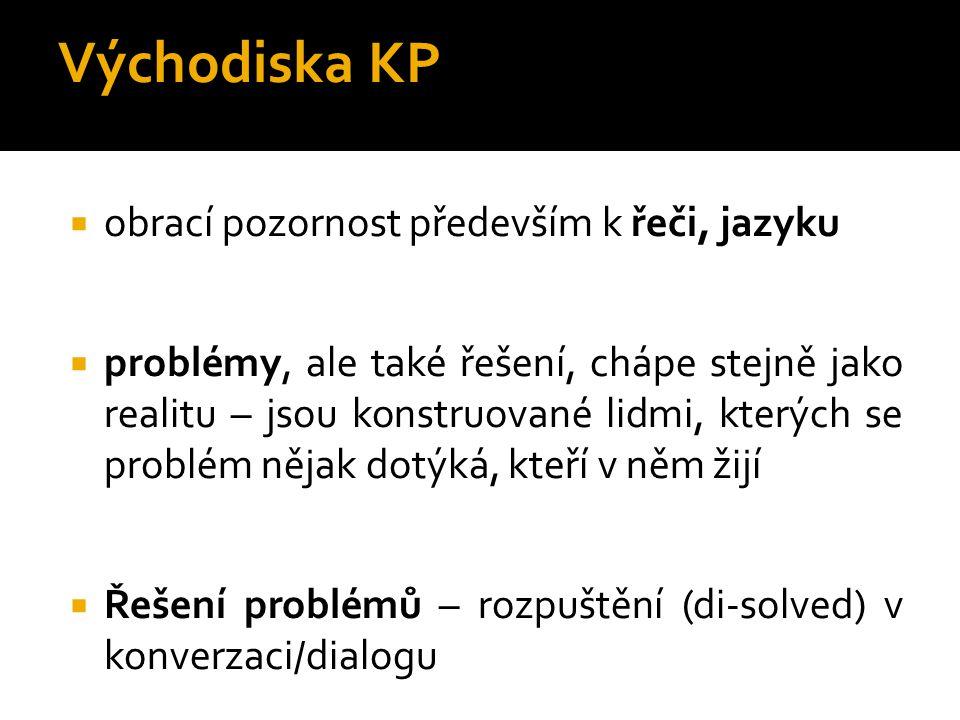 """""""Řeč o problémech vytváří problémy, řeč o řešení vytváří řešení."""