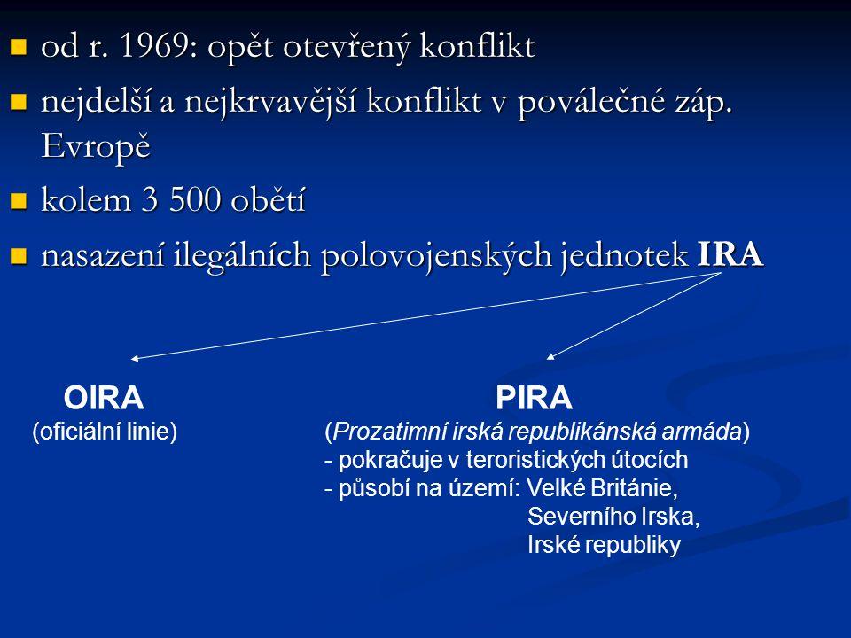 od r. 1969: opět otevřený konflikt