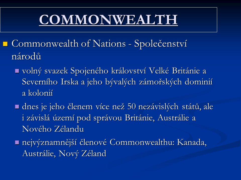 COMMONWEALTH Commonwealth of Nations - Společenství národů