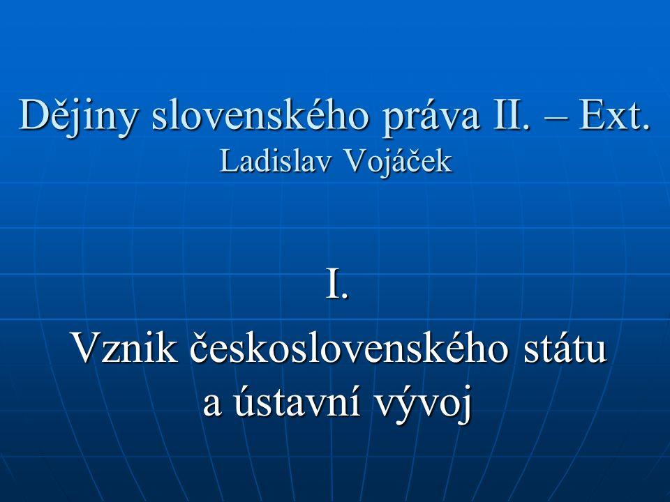 Dějiny slovenského práva II. – Ext. Ladislav Vojáček