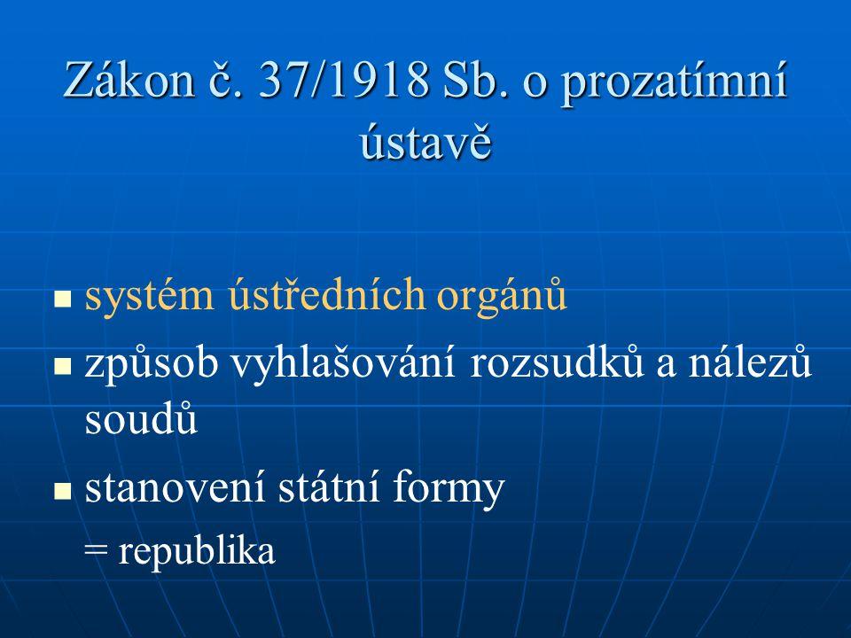 Zákon č. 37/1918 Sb. o prozatímní ústavě
