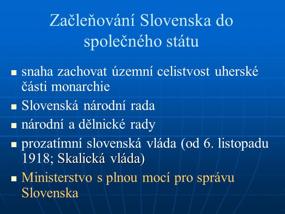 Začleňování Slovenska do společného státu