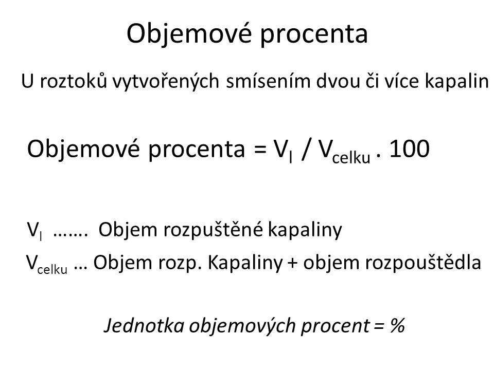 Jednotka objemových procent = %