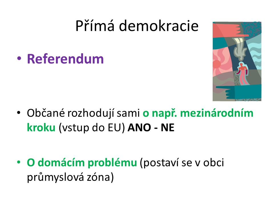 Přímá demokracie Referendum