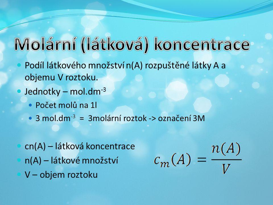 Molární (látková) koncentrace