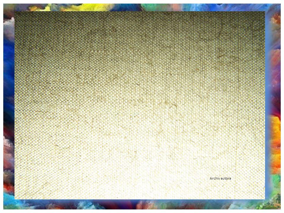 Malířská plátna Prodávají se jako metráž, plátno většinou lněné, bavlněné, režné… Hustota propustnosti nití udává cenu plátna.