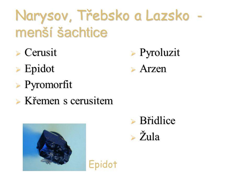 Narysov, Třebsko a Lazsko - menší šachtice