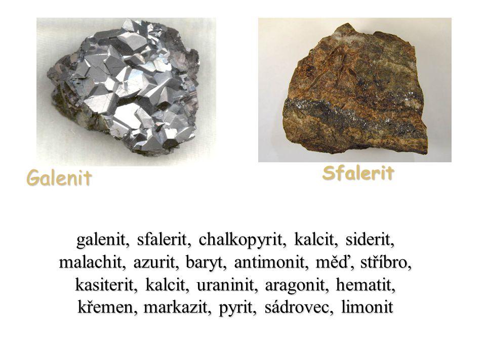 Galenit Sfalerit.