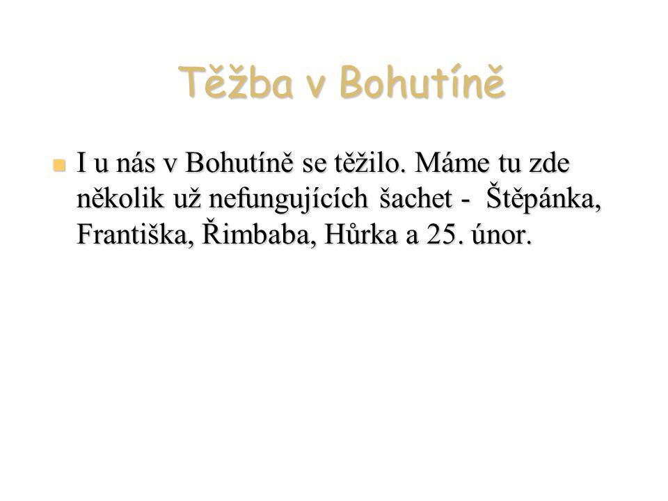Těžba v Bohutíně I u nás v Bohutíně se těžilo.