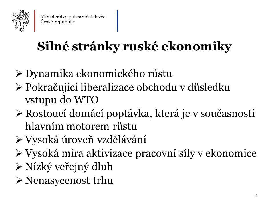 Silné stránky ruské ekonomiky