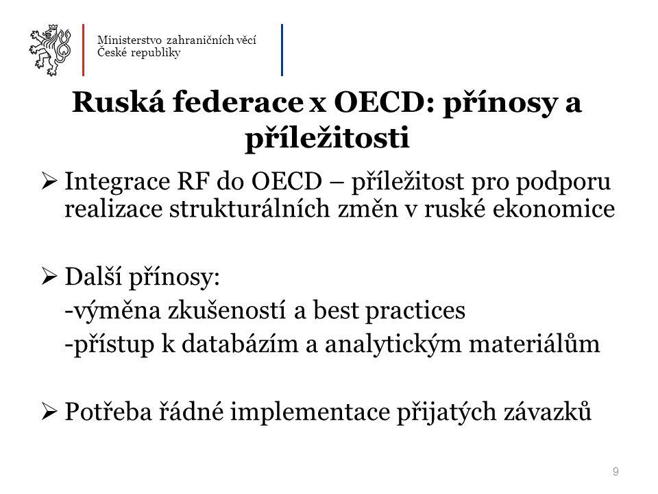 Ruská federace x OECD: přínosy a příležitosti