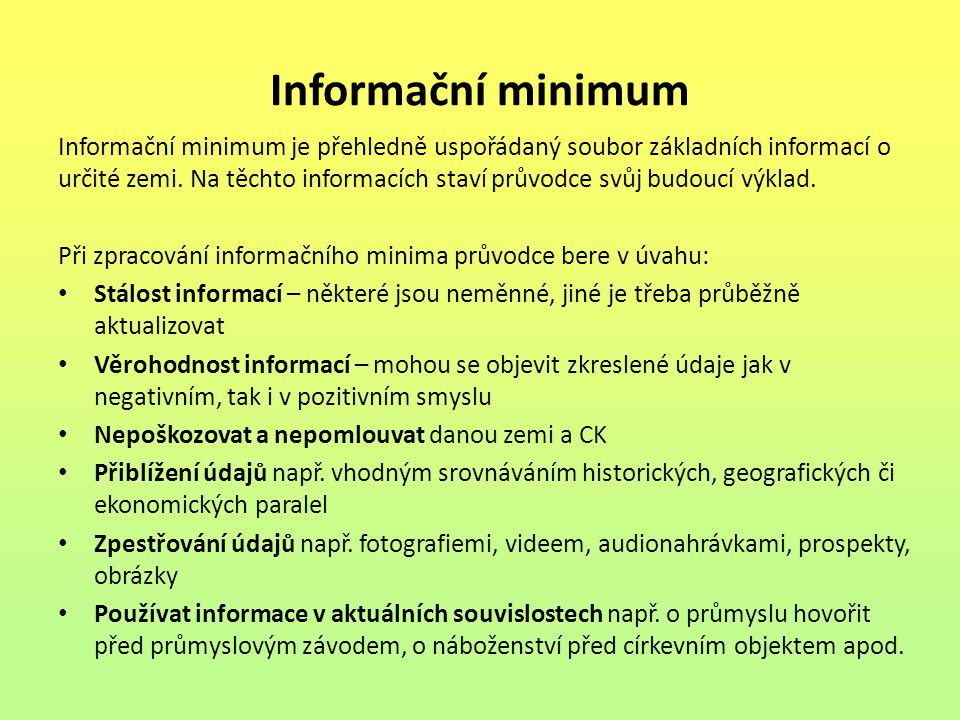 Informační minimum