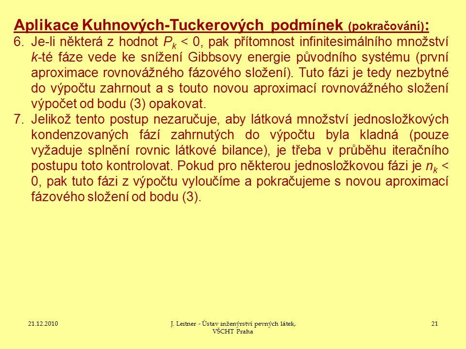 J. Leitner - Ústav inženýrství pevných látek, VŠCHT Praha