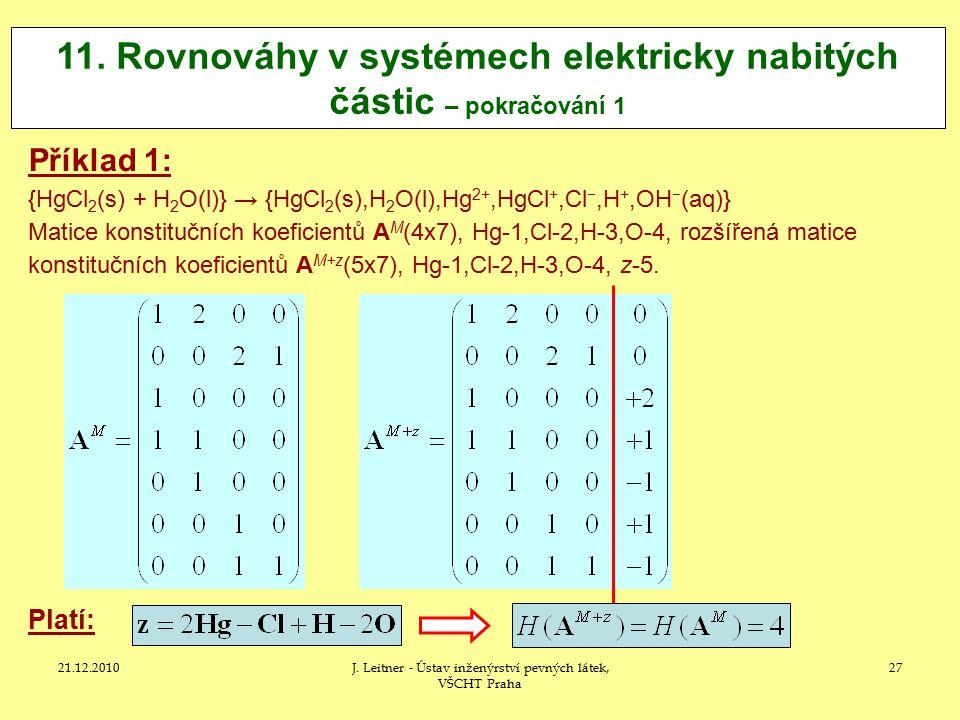 11. Rovnováhy v systémech elektricky nabitých částic – pokračování 1