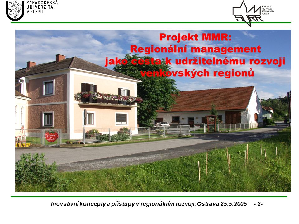 Regionální management jako cesta k udržitelnému rozvoji
