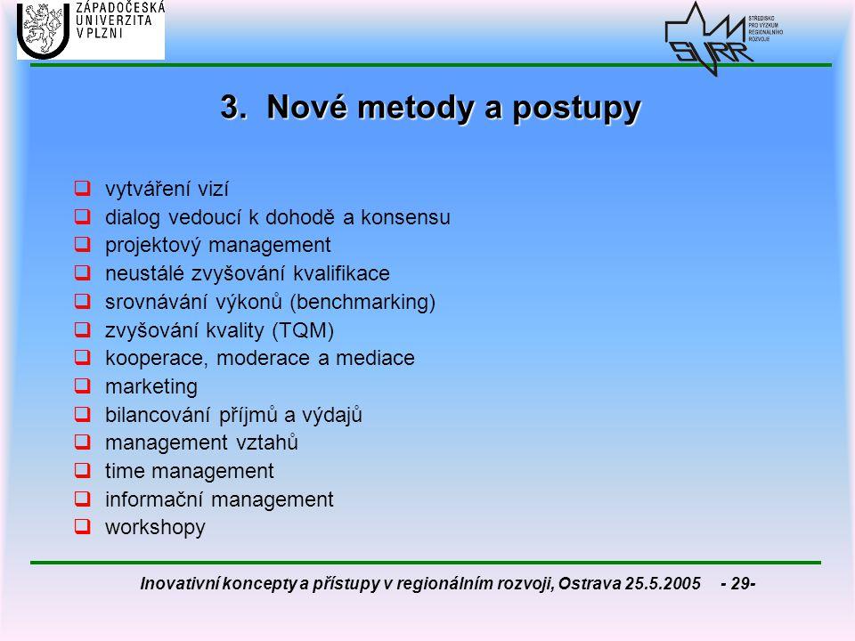 3. Nové metody a postupy vytváření vizí