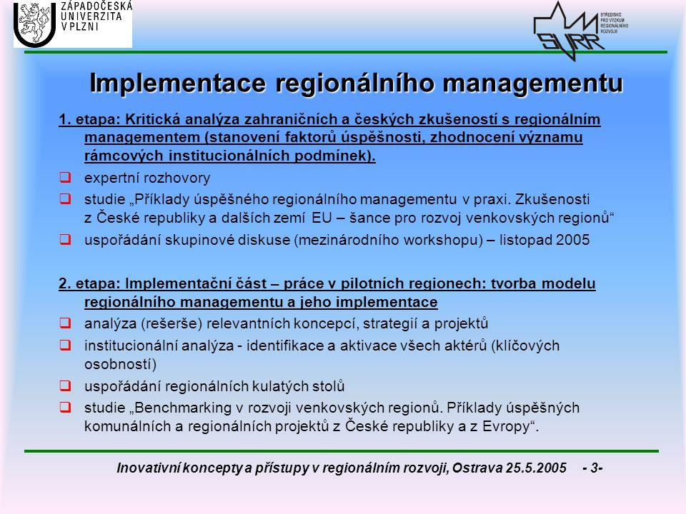 Implementace regionálního managementu