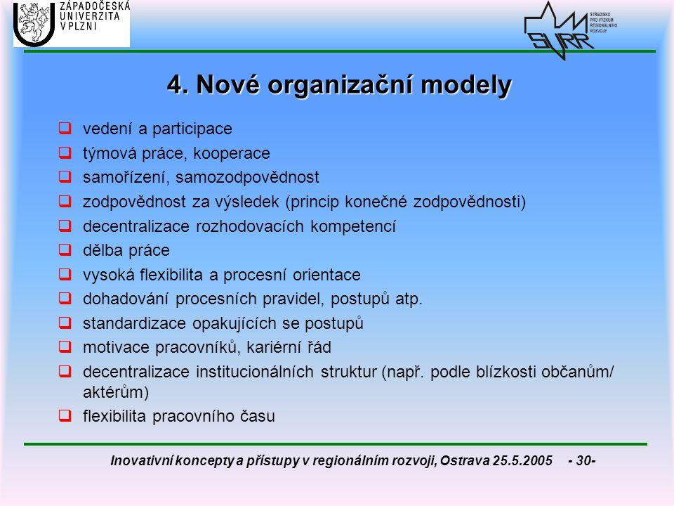 4. Nové organizační modely