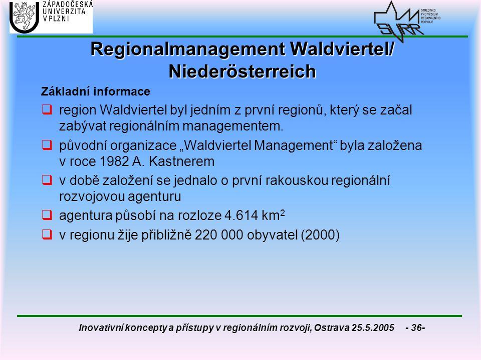 Regionalmanagement Waldviertel/ Niederösterreich