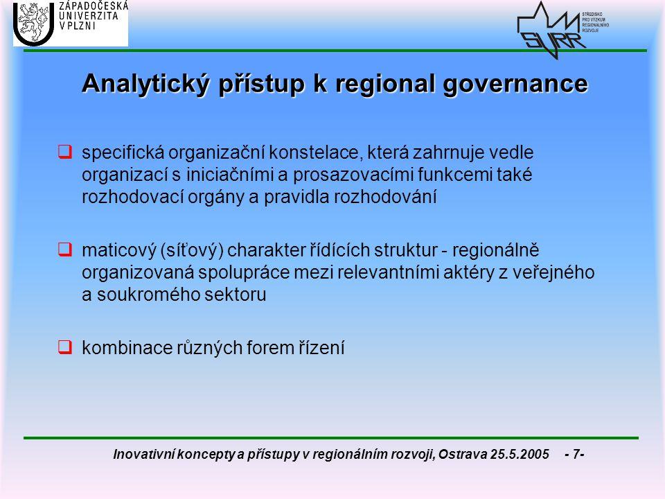 Analytický přístup k regional governance