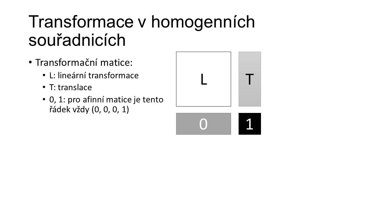 Transformace v homogenních souřadnicích