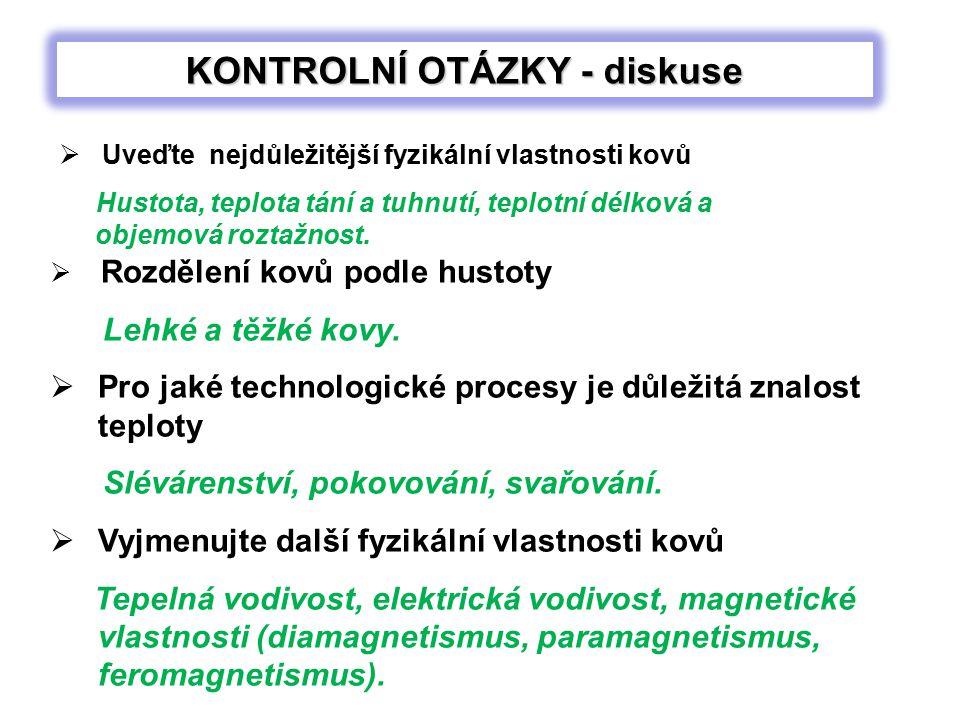 KONTROLNÍ OTÁZKY - diskuse