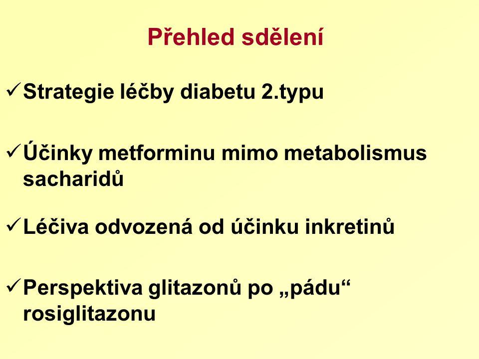 Přehled sdělení Strategie léčby diabetu 2.typu
