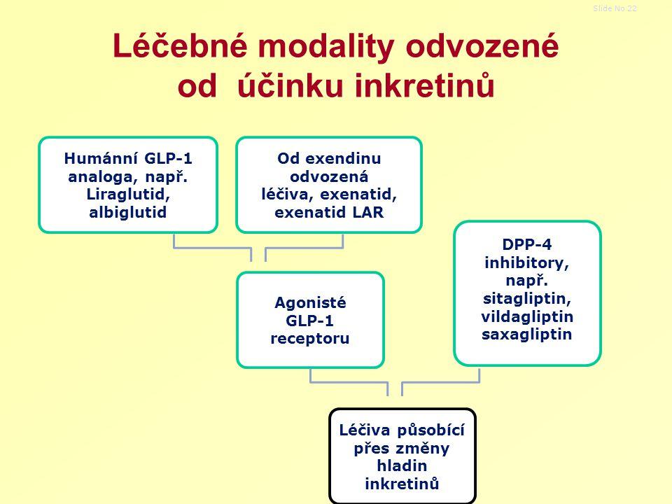 Léčebné modality odvozené od účinku inkretinů