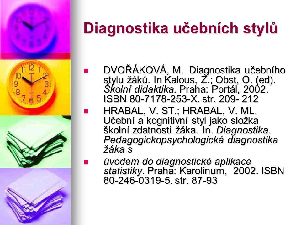 Diagnostika učebních stylů