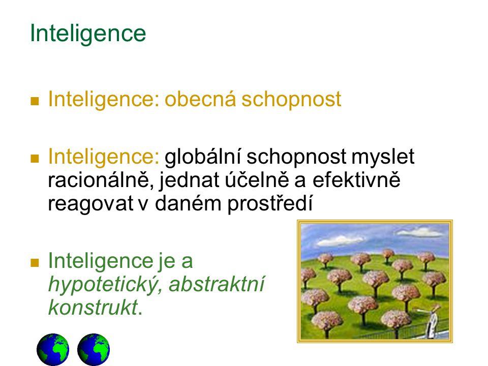 Inteligence Inteligence: obecná schopnost