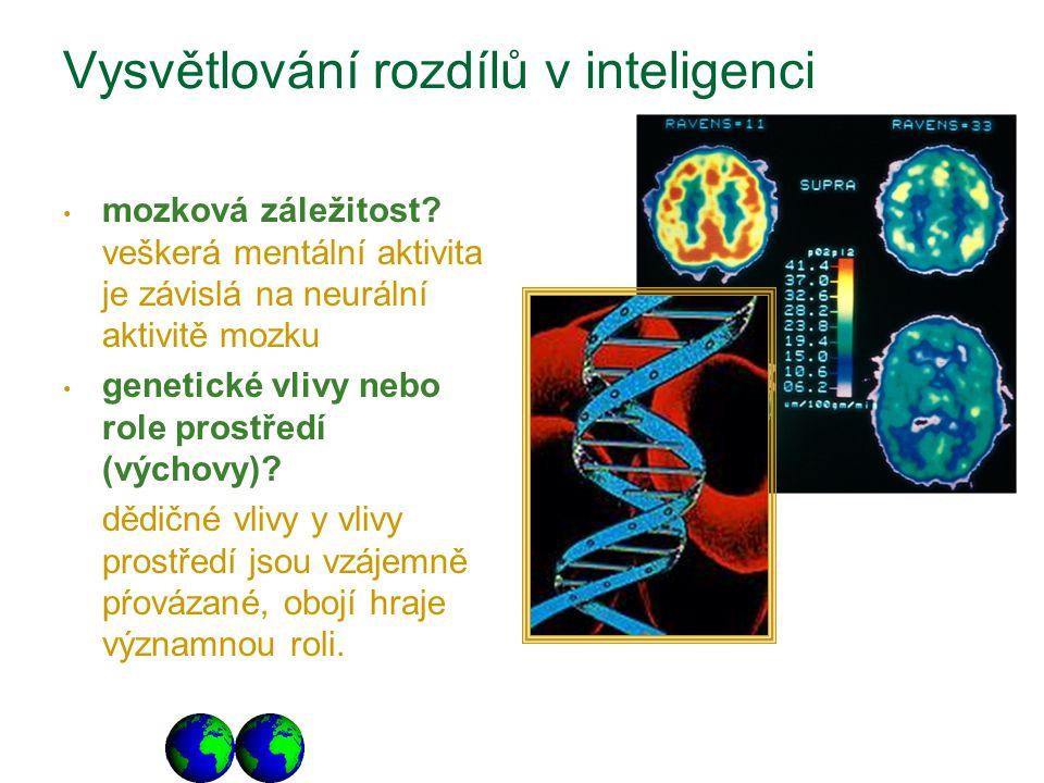 Vysvětlování rozdílů v inteligenci