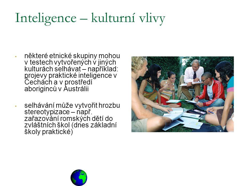 Inteligence – kulturní vlivy