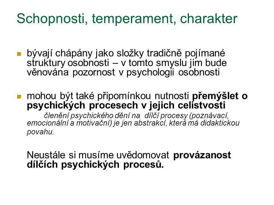 Schopnosti, temperament, charakter