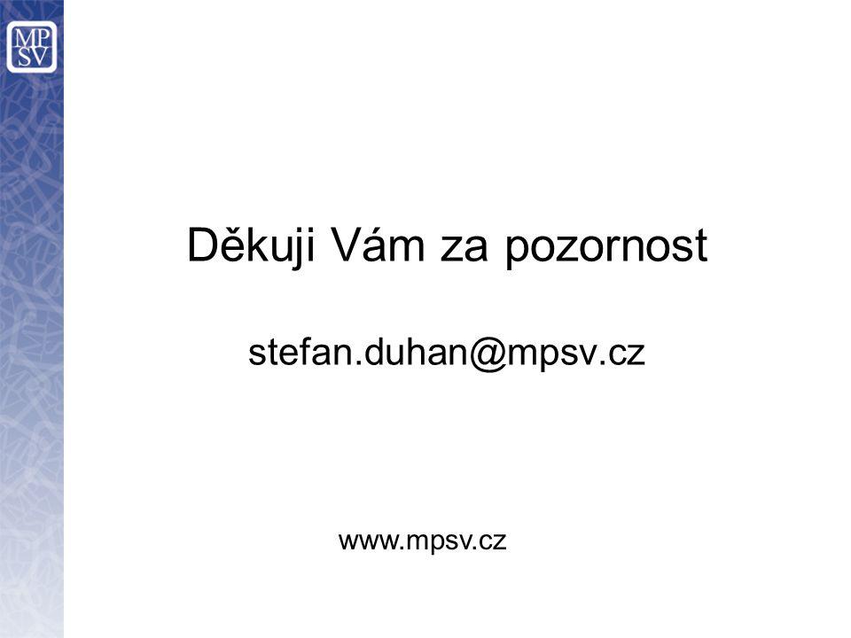 Děkuji Vám za pozornost stefan.duhan@mpsv.cz