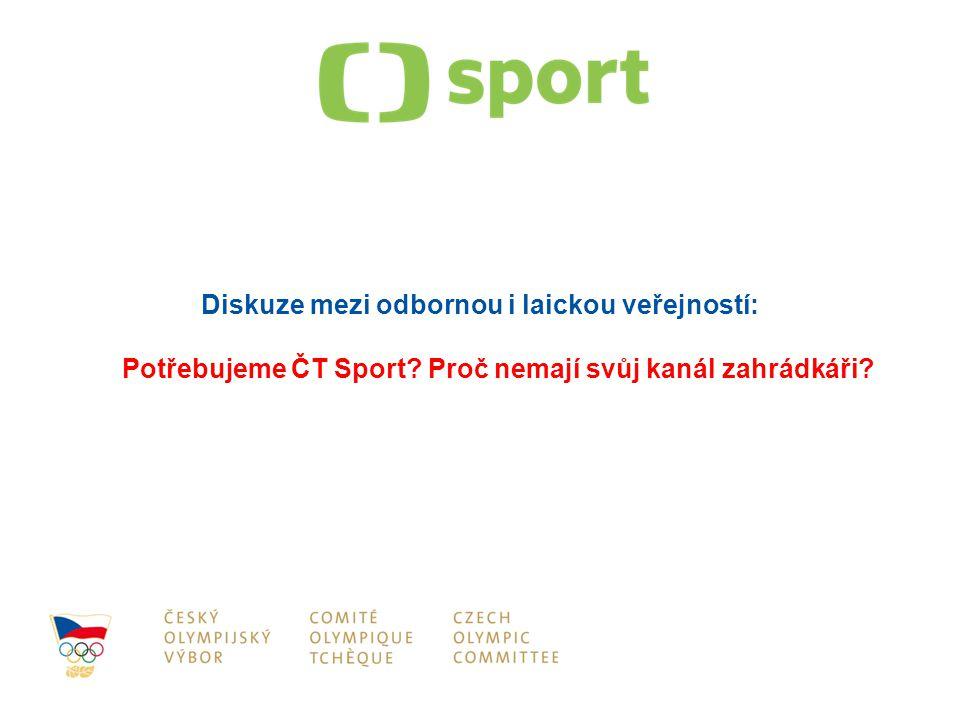 Diskuze mezi odbornou i laickou veřejností: Potřebujeme ČT Sport