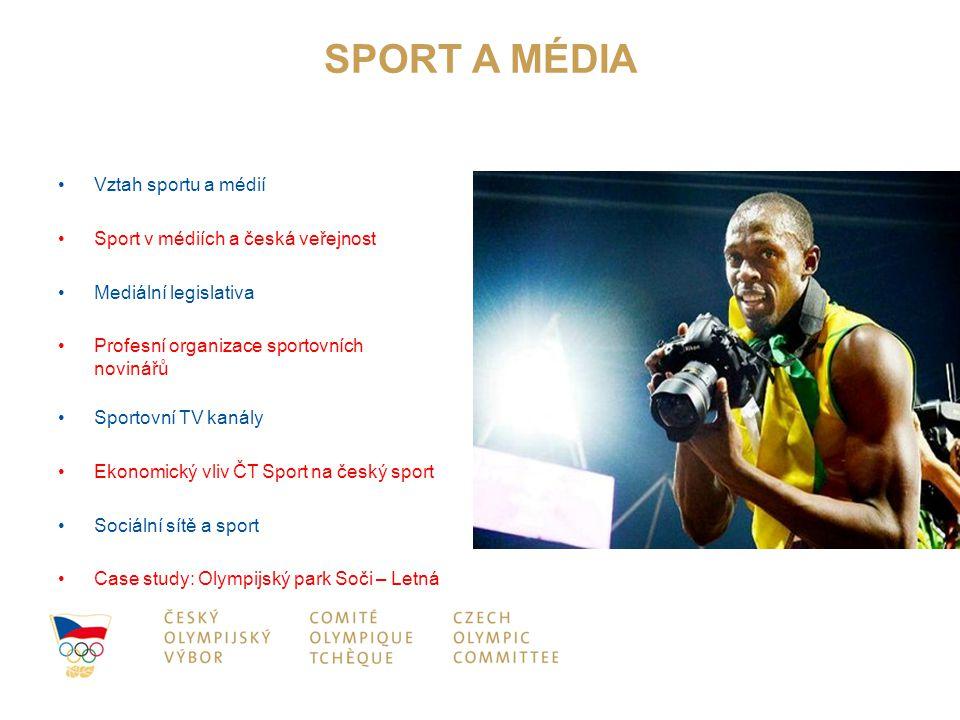 SPORT A MÉDIA Vztah sportu a médií Sport v médiích a česká veřejnost