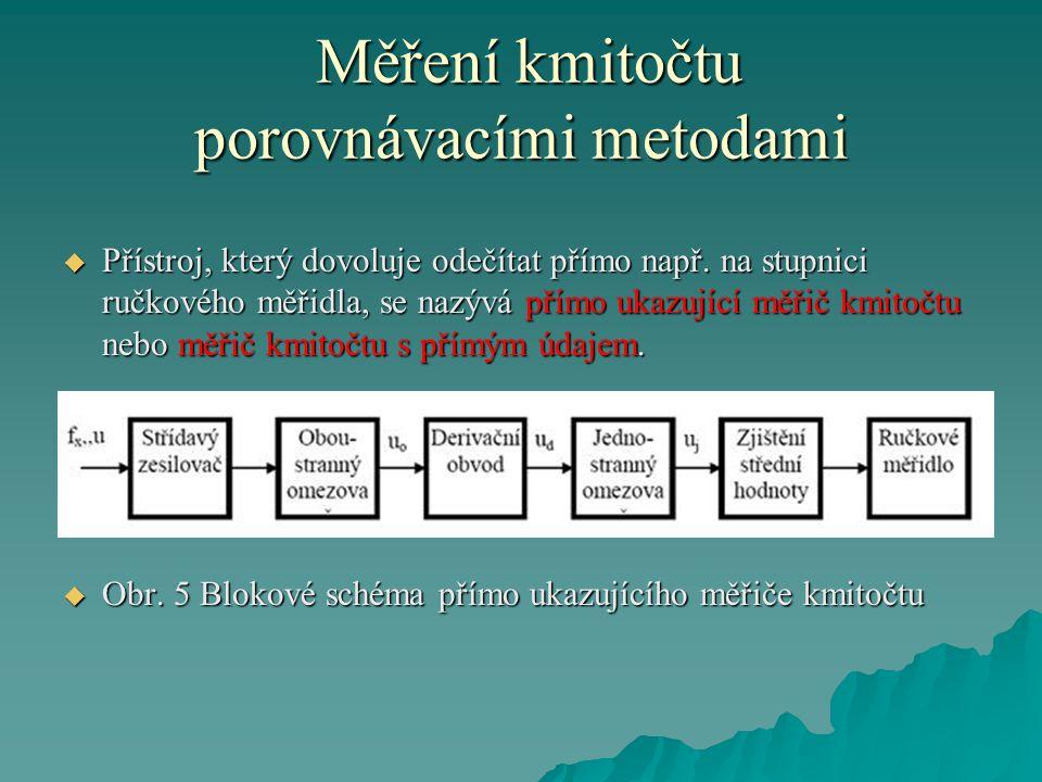 Měření kmitočtu porovnávacími metodami