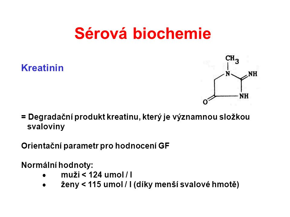 Sérová biochemie Kreatinin