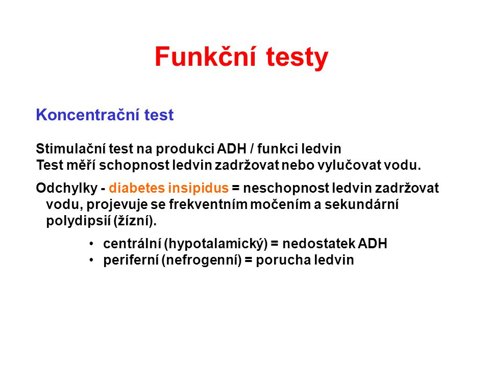 Funkční testy Koncentrační test