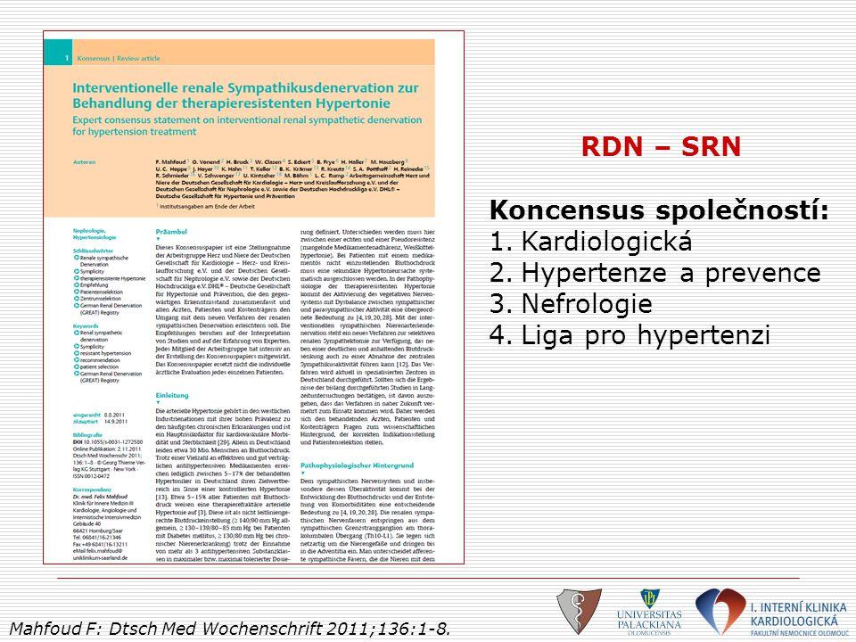 Koncensus společností: Kardiologická Hypertenze a prevence Nefrologie