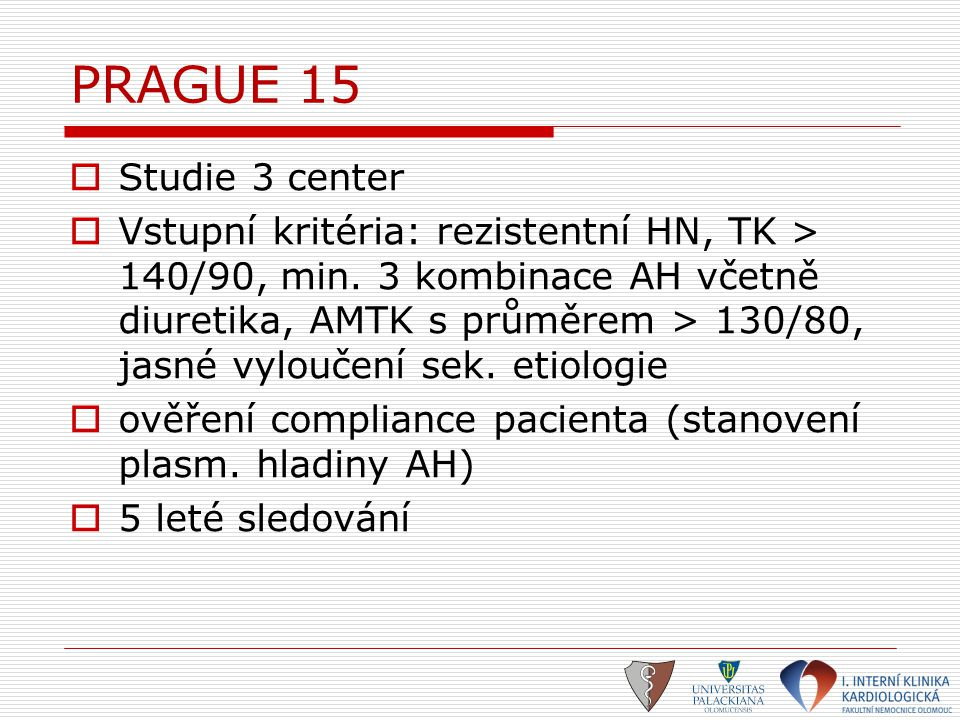 PRAGUE 15 Studie 3 center.