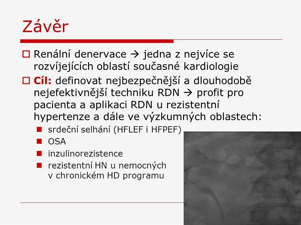 Závěr Renální denervace  jedna z nejvíce se rozvíjejících oblastí současné kardiologie.