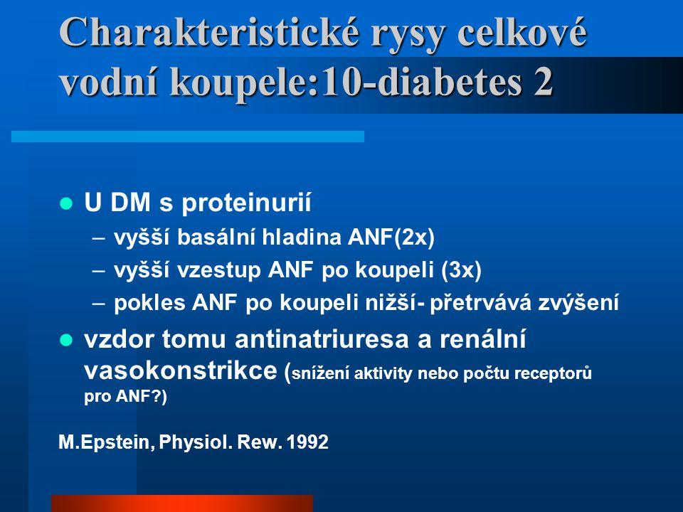 Charakteristické rysy celkové vodní koupele:10-diabetes 2
