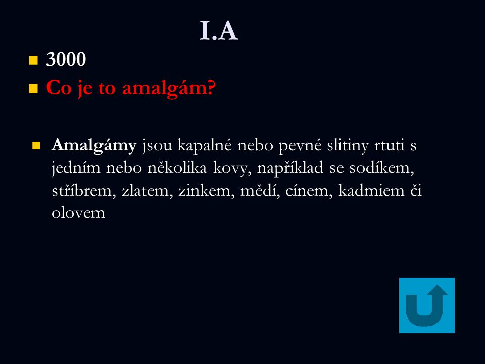 I.A 3000. Co je to amalgám